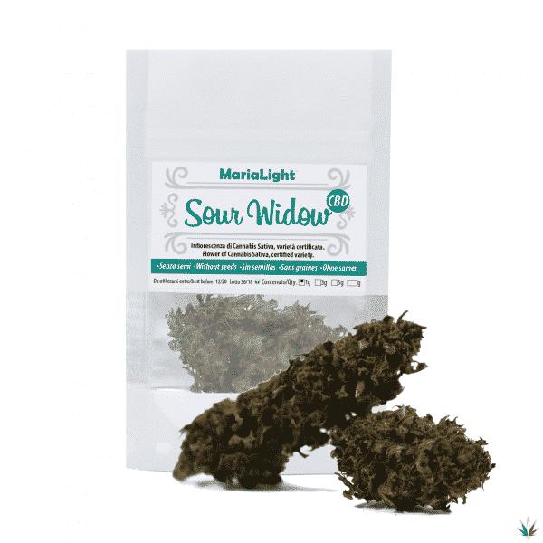 sour widow cannabis light